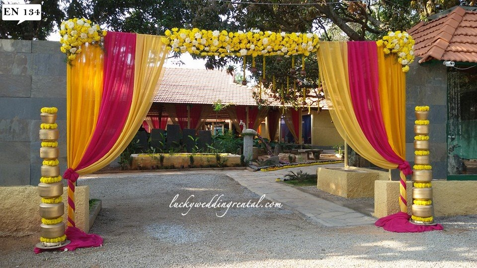 Entrance decorations on rent lucky wedding rental lucky wedding rental entrance decoration junglespirit Choice Image