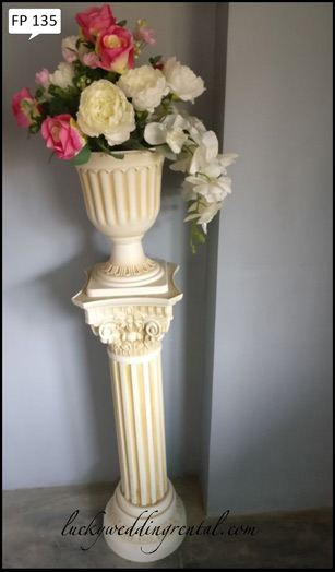 Lucky Wedding Rental fiberpots decoration