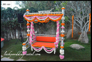 Lucky Wedding Rental jhoola decoration