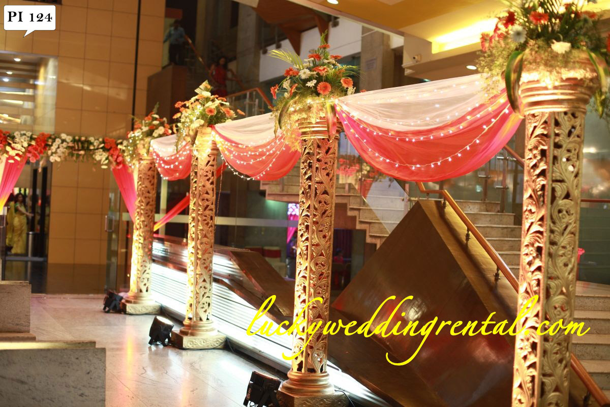 Pillars Decorations On Rent Lucky Wedding Rental